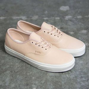 Leather Vans Authentic Sneakers Natural Nude 7